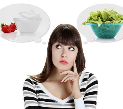 Women choosing food
