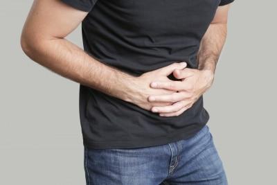 Man having stomach pain